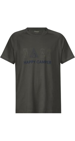 Bergans Happy Camper Bluzka z krótkim rękawem Mężczyźni oliwkowy